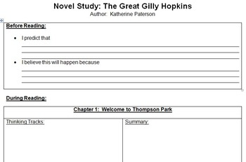 Great gilly hopkins teaching resources teachers pay teachers the great gilly hopkins novel study contract fandeluxe Choice Image