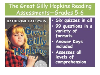 The Great Gilly Hopkins Reading Assessments—Grades 5-6