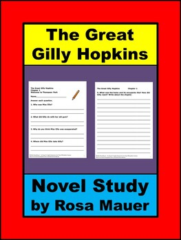 Great gilly hopkins chapter questions teaching resources teachers the great gilly hopkins reading comprehension questions the great gilly hopkins reading comprehension questions fandeluxe Images