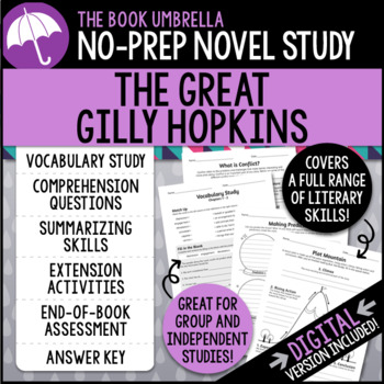 Great gilly hopkins teaching resources teachers pay teachers the great gilly hopkins the great gilly hopkins fandeluxe Choice Image