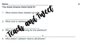 The Great Green Heist Quiz 1