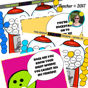 The Great Gumball Escape Sight Word Game - Paperless, Digital