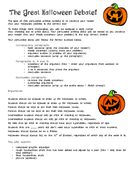 The Great Halloween Debate - Persuasive Writing