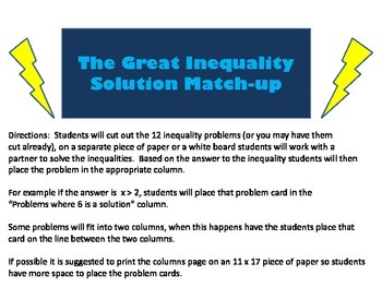 The Great Inequality Solution Match Up