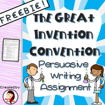 The Great Invention Convention Writing Rubric Sample