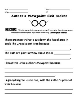 The Great Kapok Tree: Author's Viewpoint vs. Your Own