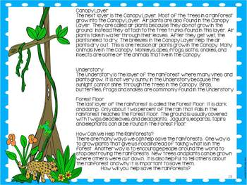 The Great Kapok Tree: Common Core Rainforest Fiction and Non-Fiction Fun