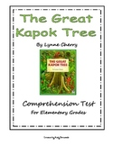 The Great Kapok Tree Comprehension