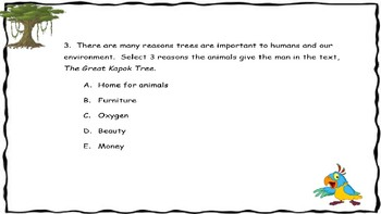 The Great Kapok Tree Evidence Based Questions and Writing
