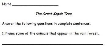 The Great Kapok Tree - Lesson