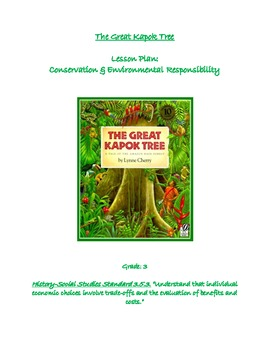 The Great Kapok Tree Lesson: Conservation & Environemental