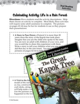 The Great Kapok Tree Post-Reading Activities