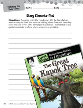 The Great Kapok Tree Studying The Story Elements