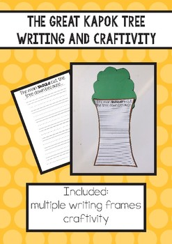 The Great Kapok Tree - Writing and Craftivity