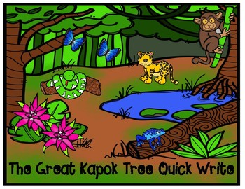 The Great Kapok Tree by Lynn Cherry Opinion Writing Task