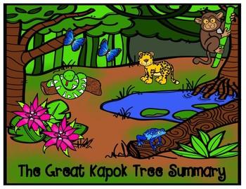 The Great Kapok Tree by Lynn Cherry Summary Graphic Organizer