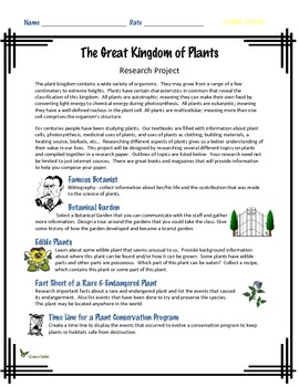 The Great Kingdom of Plants