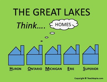 The Great Lakes Poster     Learn the Names of the Great Lakes with this Poster