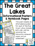 The Great Lakes ~ Set of 5 Informational Posters, Notebook Pages, & Assessment