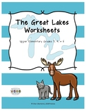 Distance Learning: The Great Lakes Worksheets