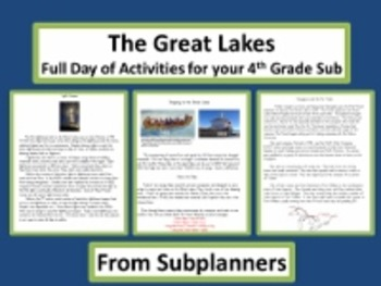The Great Lakes/Common Core Aligned Full Day For Your Sub