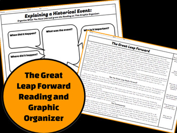 The Great Leap Forward: Explain a Historical Event Reading and Graphic Organizer