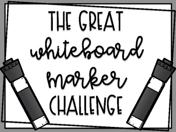 The Great Marker Challenge
