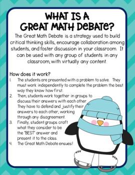 The Great Math Debate:  Winter Edition