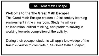 The Great Math Escape - Basic Division