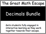 The Great Math Escape - Decimals Bundle