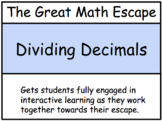 The Great Math Escape - Division of Decimals
