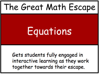The Great Math Escape - Equations