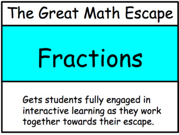 The Great Math Escape - Fractions