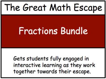 The Great Math Escape - Fractions Bundle