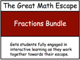 The Great Math Escape - Fractions Bundle