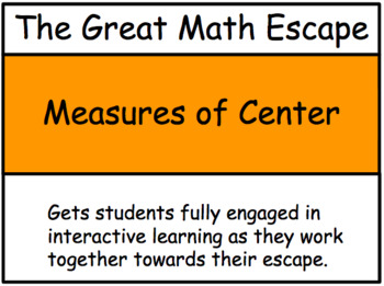 The Great Math Escape - Measures of Center