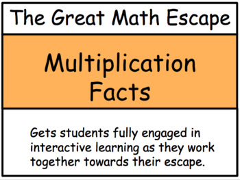 The Great Math Escape - Multiplication Facts