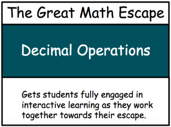 The Great Math Escape - Operations with Decimals