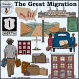 The Great Migration Clip Art