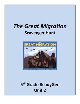 The Great Migration Scavenger Hunt, 5th grade ReadyGen Unit 2