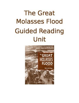 The Great Molasses Flood Informational Text Guided Reading Lessons