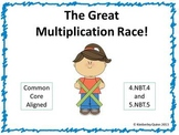 The Great Multiplication Race - Whole Numbers (grades 4 and 5)