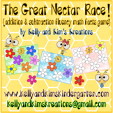 The Great Nectar Race! {addition & subtraction fluency mat