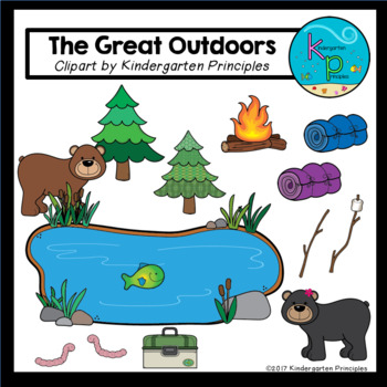The Great Outdoors (Camping Clipart Set)