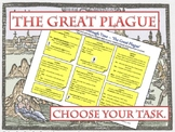 The Great Plague - Medicine Through Time Choice worksheet