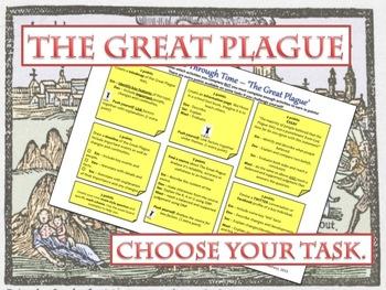 The Great Plague - Medicine Through Time Choice worksheet