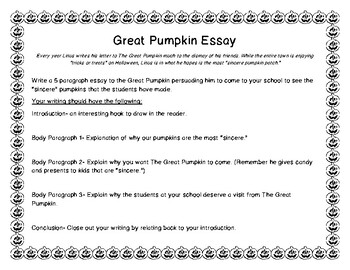The Great Pumpkin (FREEBIE)