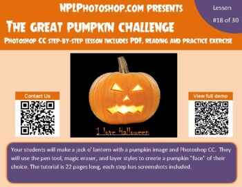 Great Pumpkin Challenge with Photoshop CS5/CS6 and CC versions-2 files included