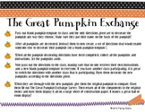 The Great Pumpkin Exchange -Writing a Set of Directions -Halloween Thanksgiving