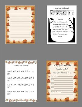 The Great Pumpkin Opinion Paragraph Lesson